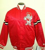 Nebraska Cornhuskers Mens Starter Vintage Satin Snap Front Jacket NCAA R... - $99.99