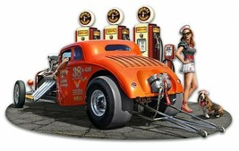 1933 Willys Filler-Up with Signal Gas Plasma Cut Metal Sign - $49.95