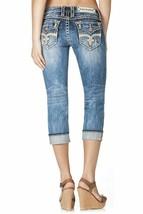 Rock Revival Womens Premium Capri Jeans Skinny Acid Denim Wash Angie P17 image 2