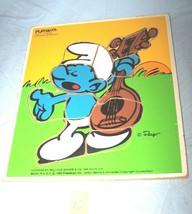 1982 Smurfs Evening Serenade Wooden Playskool  Puzzle-325-5--Lot 10 - $13.55