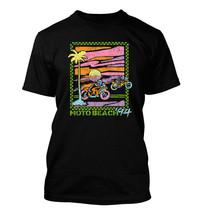 Moto Beach Retro #369 - Men's T-Shirt - Funny Humor Comedy Motorcycle 19... - $24.99