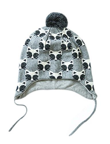 Warm Hat Knitted Hat Plus Velvet Ear Protection Hat Little Fox Pattern