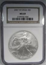 2007-W Silver Eagle NGC MS69 Coin AJ887 - $57.02
