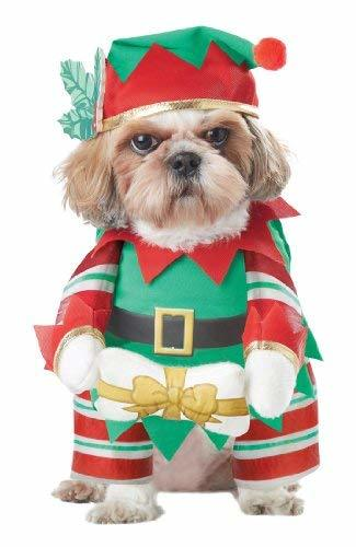 Primary image for California Costume Collections Elf Pup Dog Costume, Large
