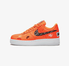 Nike Air Force 1 Low PRM Total Orange/ White AR7719-800 Men Just Do It Authentic - $129.95
