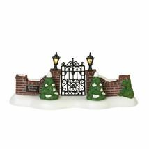 Dept 56 Snow Village Dickens Village Series DICKENS VILLAGE GATE Lit 600... - $59.99