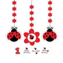 Ladybug Danglers-3 Pack - $31.32
