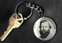 "JEB STUART Key Chain 1.50"" Civil War Confederate Generals Keychain - $5.88"