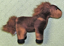 "AURORA WORLD MINI 9"" HORSE PONY STUFFED ANIMAL PLUSH BROWN WHITE FLUFFY ... - $5.00"