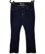 Old Navy womens size 10 Jeans sweetheart boot cut dark wash stretch inseam 29 - $14.50