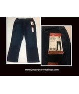 Lee Riders Blue Jeans Relaxed Straight Leg Slimming 18M - $18.99