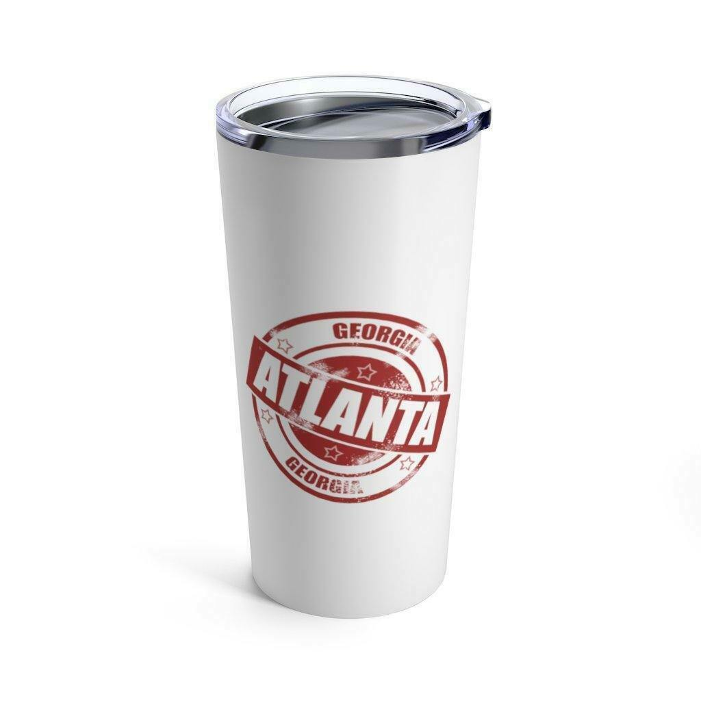 Primary image for Atlanta Vacuum Insulated Stainless Steel Tumbler 20 OZ Red and White with Lid