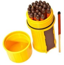UCO Stormproof Match Container Yellow/Gold Waterproof Windproof 25 Match... - $9.66