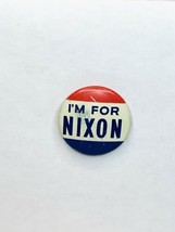 "Vintage 1960 ""I'm For Nixon"" Campaign Political Button Richard Nixon - $4.99"
