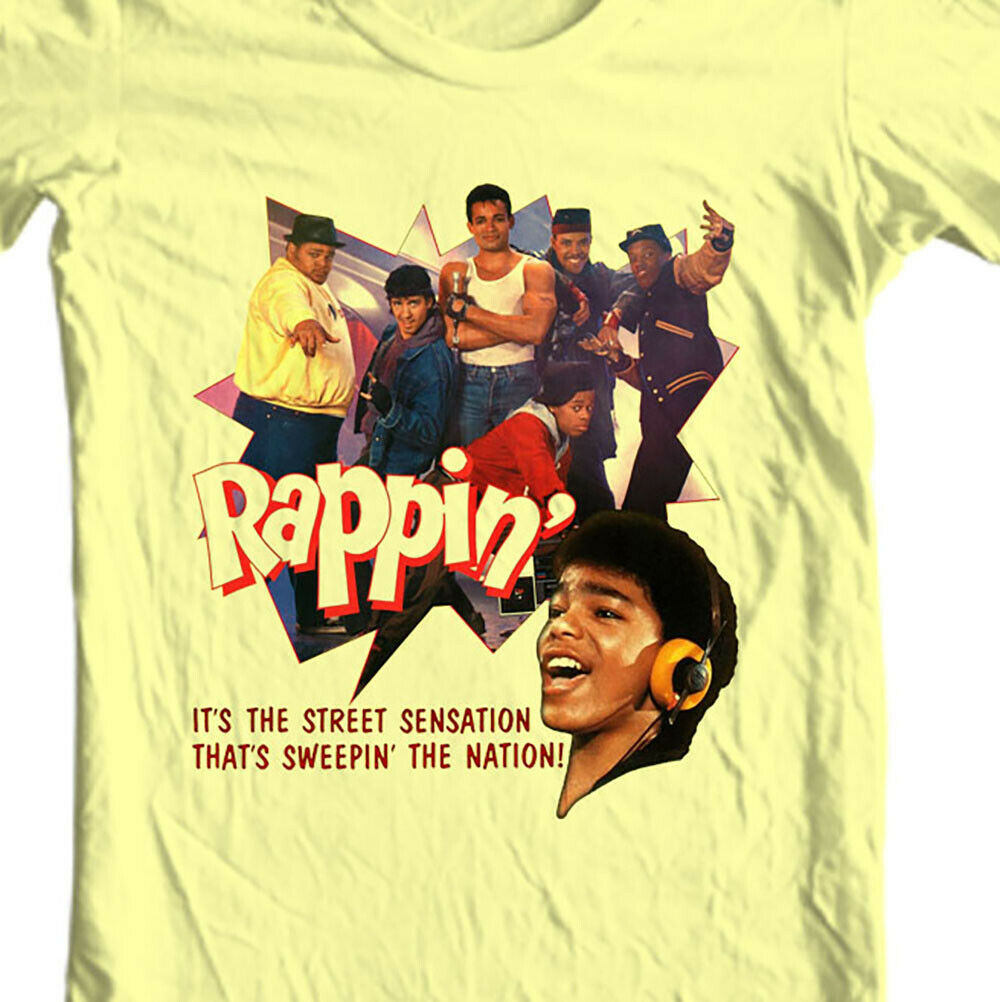 Rappin T-shirt retro 1980s breakin break dance hip hop movie  graphic tee