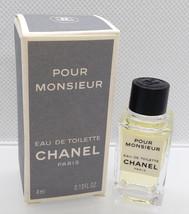 Vtg Mini Eau Toilette ✿ Chanel Pour Monsieur ✿ Parfum Perfume (4ml. 0.13 Fl.Oz) - $15.99