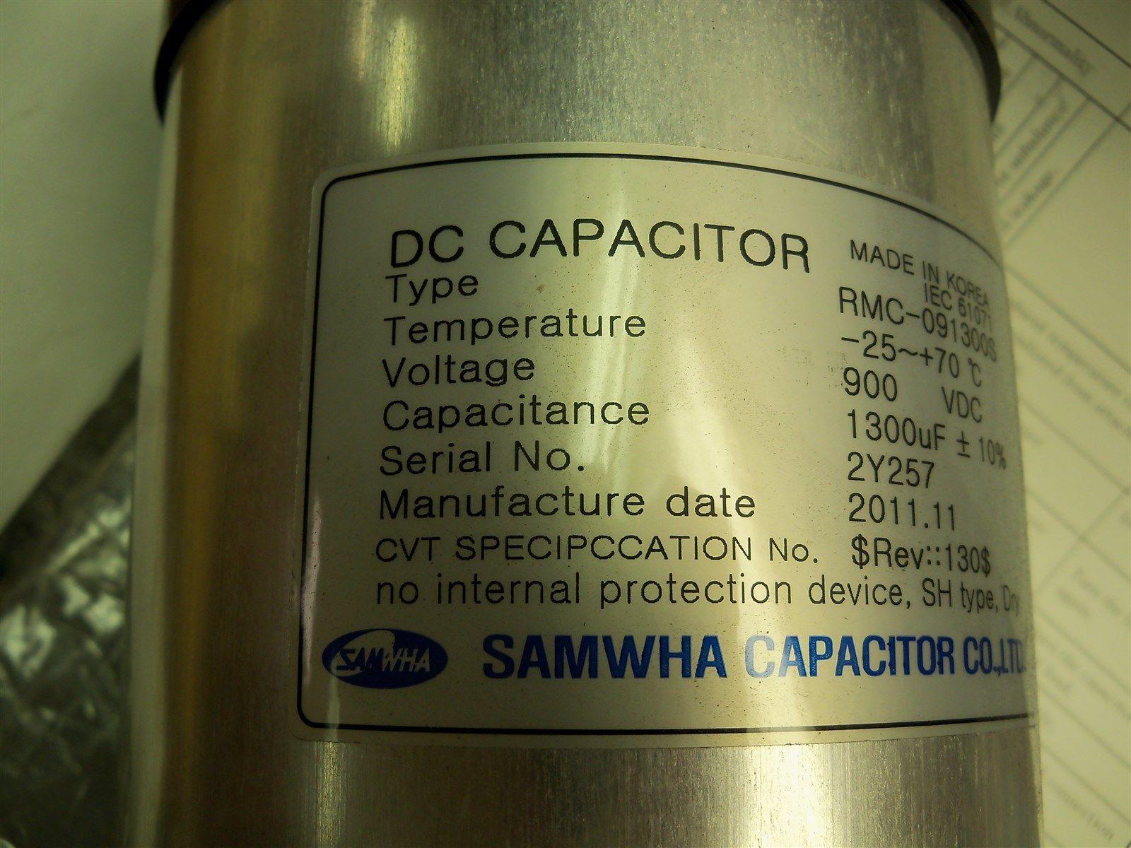 Samwha Capacitor RMC-091300s DC Capacitor 900 VDC 1300uF