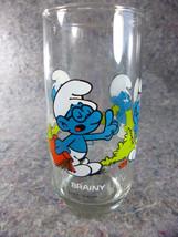 Peyo 1982 Brainy Smurf Glass Hardee's - $5.45