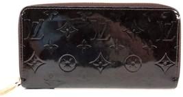 z Authentic LOUIS VUITTON Vernis Terre D'Ombre Zippy Long Wallet M91458 ... - $245.00
