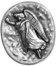 GUARDIAN ANGEL PROTECT ME SILVER TONED POCKET TOKEN COIN - $11.12