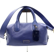 dcf9ae739e50 NWT Marc by Marc Jacobs Legend Blue Leather Satchel Convertible Bag New -   268.00