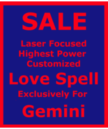 Powerful Love Spell Customized Ritual for Gemini & Money Love Protection... - $165.00