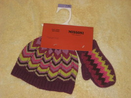 Missoni for Target Hat and Mittens for Toddler Infant Grape One Size  - $20.00
