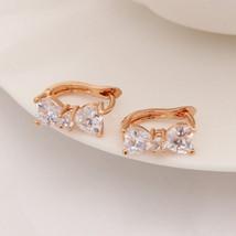 Lovely Bow-knot Design Hoop Earrings Women Fashion Luxury Bridal Wedding Jewelry - $4.16