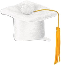White Graduation Cap Hair Clip Party Accessory fun accent (1 count) 3.25... - $6.92