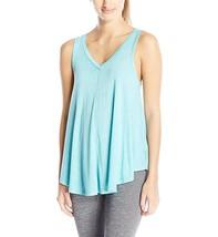 Calvin Klein Womens Performance V-Neck Tank Top Large L Cyan Blue $39 - $14.52