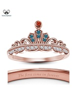 Elegant Design 14k Rose Gold Plated 925 Silver Disney Princess Merida Cr... - £40.44 GBP