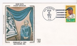 BABE RUTH #2046 STAMP UNVEILED BALTIMORE, MD 2/6/83 H&M Z SILK CACHET LO... - ₹593.32 INR