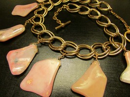 Pink Opal Necklace, Pink Opal Jewelry, Pink Opal Jewellery, Pink Opal, P... - $152.00
