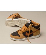 Nike Dunk Hi Retro PRM Velvet Brown Curry & Fossil Mens Trainers - $240.24