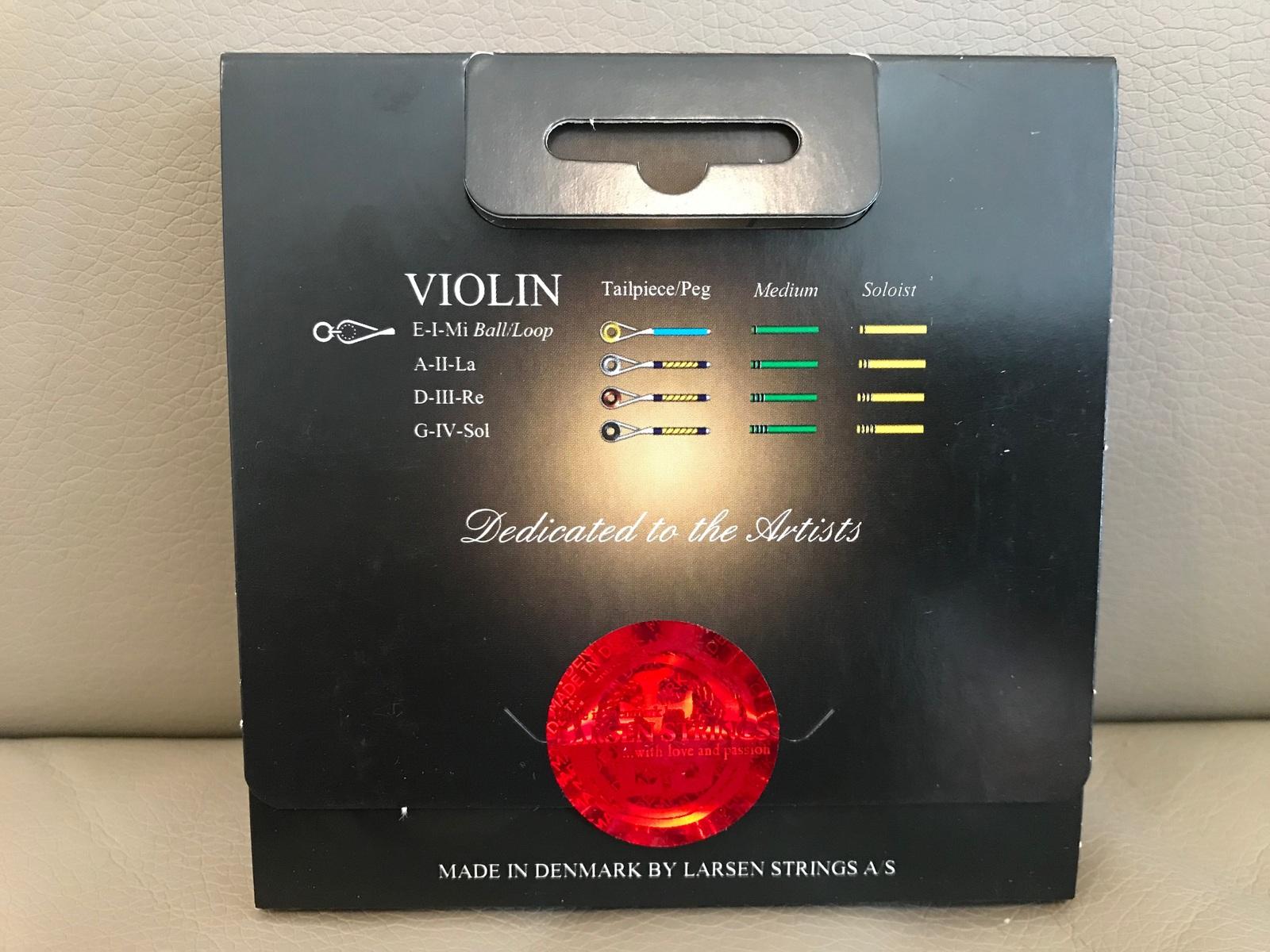 2017 Denmark Larsen Il Cannone Violin Strings Set 4/4 Medium Ball End