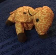 "Ty TEENIE 3"" Beanie Babies 1993 Twigs Giraffe Tag Creased - $0.94"