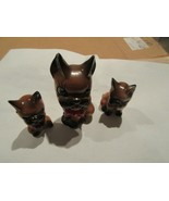 Porcelain , Cat , Mother/2 Kittens ,  Vintage , Collectible  - $25.00