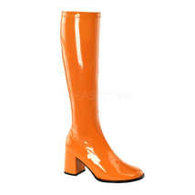 "Sexy 3"" High Heel Gogo Dancer Orange Knee Boots Halloween Costume GOGO30... - $42.70"