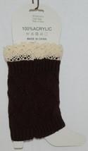 Bijorca BT264X103A1Brown Leg Warmer Cream Colored Lace image 2