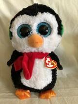 TY Beanie Boos - NORTH the Penguin Medium - 9 inch Plush MWMT NEW Sparkl... - $13.85