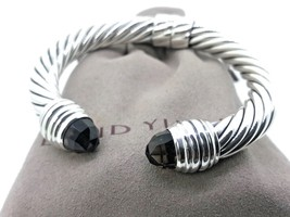 David Yurman Sterling Silver Smoky Quartz 10MM Cable Bracelet - $599.99