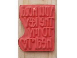Stampabilities You Hold the Key Rubber Stamp Mounted on Wood #ER1153 image 2