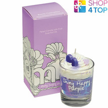 SHINY HAPPY PIPED CANDLE PASSIONFRUIT CITRUS SCENTED BOMB COSMETICS NEW - $14.84