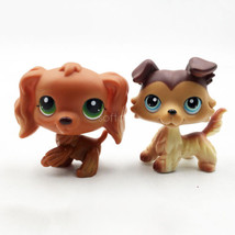 2pcs Littlest Pet Shop LPS #252 #58 Girl Collie Cocker Spaniel Dog Blue ... - $23.99