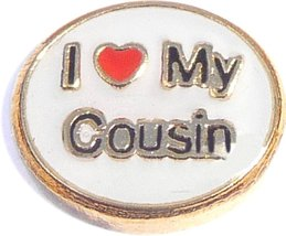 I Love My Cousin Floating Locket Charm - $2.42