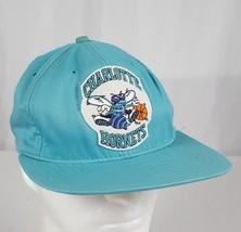 Vtg Charlotte Hornets Snapback Hat Cap Universal Industries USA Cotton T... - $27.99