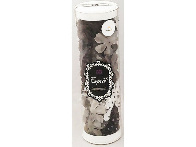 Prima Marketing Esprit Black, Gray, White Flowers #518424