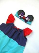 Girls Little Mermaid Flutter Sleeve Dress Ariel Disney Bounding Outfit E... - $16.83