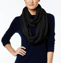New BCBGeneration Soft Cozy Lurex Knit Women's Infinity Scarf Black Silv... - €9,54 EUR