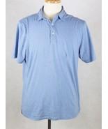 Peter Millar Mens Blue Polo Shirt Size Medium Pima Cotton Silk - $21.77